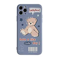 SUNQQA Kawaii Retro Lucky Bear人形電話ケースiPhone 12 11 Pro最大XR XS MAX 12ミニ7 8プラス7プラスケースかわいいソフトカバー (Color : 01, Material : For iphone 8)