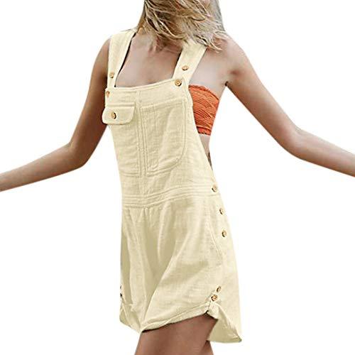 LISTHA Denim Jumpsuit Shorts Women Loose Bib Hole Pants Overalls Demin Jeans