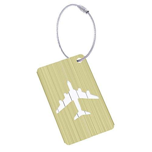 Seasons Shop koffer-etiketten Luggage Tag van aluminium met touwen van roestvrij staal accessoires op reis