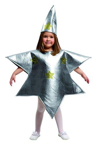 My Other Me Me-204394 Disfraz de estrella para niña, color plateado, 3-4 años (Viving Costumes 204394)