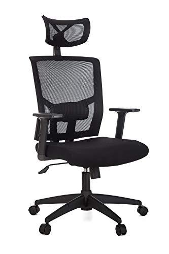 Cadeira Para Escritório Presidente Giratória Ergonômica - Anima Preto