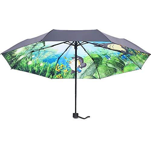 Mein Nachbar Totoro Regenschirm Sonnenschirm weiblich faltbar - Un-Auto Umbrella
