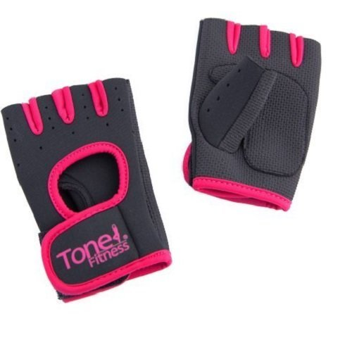 Tone Fitness HHWG-TNPINKS Tone Pink Weightlifting Gloves-Small