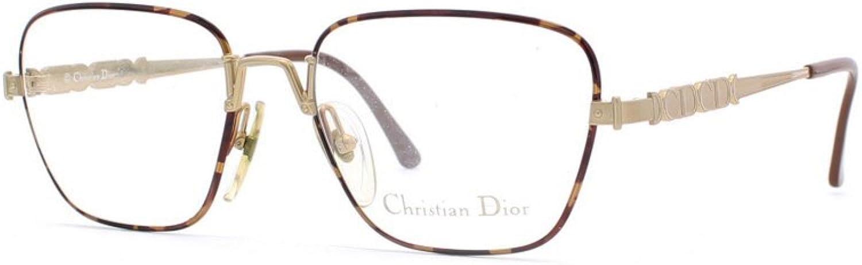 Christian Dior 2630 41 Black and Brown Authentic Women Vintage Eyeglasses Frame