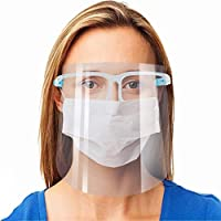 2-Pack Reusable Goggle Transparent Anti-Fog Layer Safety Face Shield