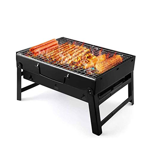 Negro Parrilla de la Barbacoa, la Barbacoa portátil de carbón Barbacoa Plegable, fácil de Montar y cocinar Desmontar Viaje Utensilios DDLS