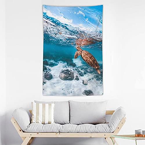 GBAR Tapiz de pared de las tortugas marinas, decoración del hogar para la sala de estar, colgar en la pared, tapiz adecuado para colgar en la pared, dormitorio, dormitorio