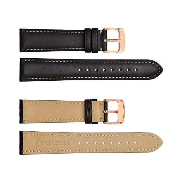 WOCCI Watch Band 14mm 18mm 19mm 20mm 21mm 22mm – Vintage Leather Watch Strap,Choice of Color and Width