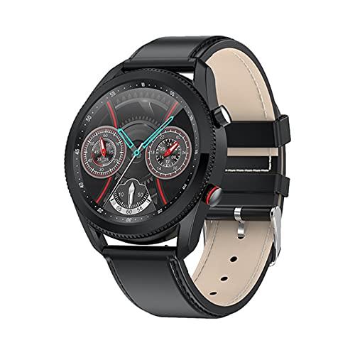 Smart Watch, L61, Moda Business Casual, Reloj para Hombres, Dial Se Puede Girar para Interrumpir La Interfaz De Función Reloj Ronda Hombre para Android iOS,D