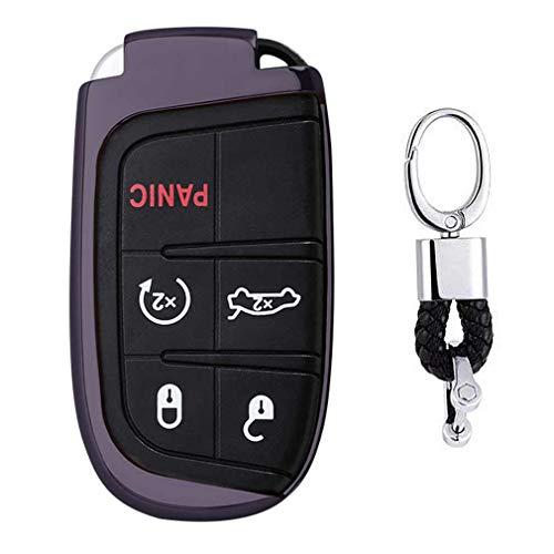 Noir Auto clés Sac Housse de Protection pour Jeep Grand Cherokee. Chrysler 300. Dodge Durango. Charger. Challenger. Journey