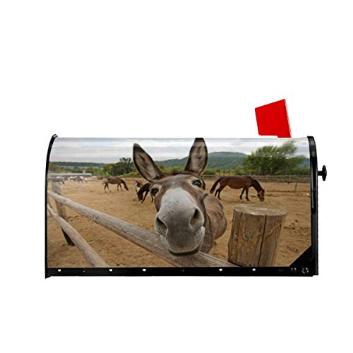 Delerain Funny Donkey Mailbox Cover Magnetic Mailbox Wraps...