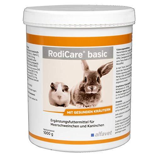 RodiCare®basic 1000 g-Ergänzungsfuttermittel für Meerschweinchen und Kaninchen Leckere Pellets mit hohem Gehalt an leicht verdaulichen Rohfasern