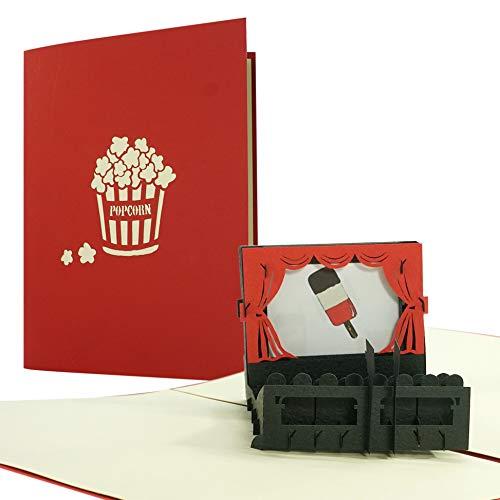 Kinogutschein I Gutschein oder Einladung Kinobesuch oder Filmeabend | Gutscheinkarte |Geburtstagskarte, Geschenkidee, Geschenk, H34