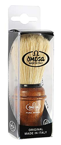 Omega Ash Wood Handle Boar Hair Shaving Brush