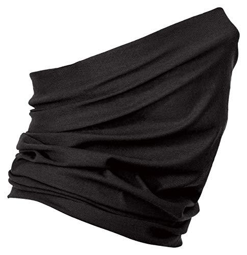 Kiddy Pedi Schlauchschal aus Mikrofaser | Schlauchtuch | Neckwarmer | Halstuch | Bandana | Multifunktionstuch | Face Shield | Mundmaske | Motorradschal | vielseitig einsetzbar (Schwarz - Black)