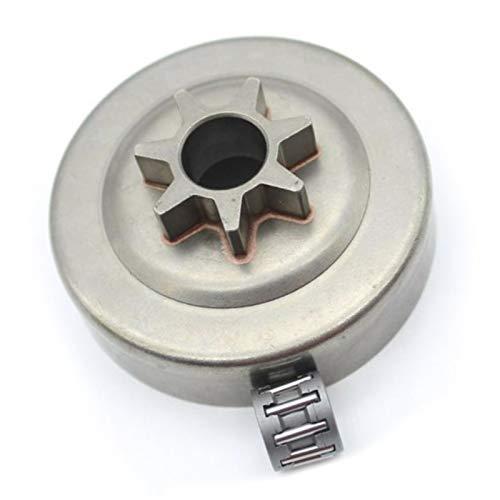 qfkj Electrodomésticos 825,5 cm 7T rodamiento de piñón de tambor para Husqvarna 240 235 235E 136 137 235E 136 137 141 142 36 41 Motosierra Accesorios Piezas de herramientas