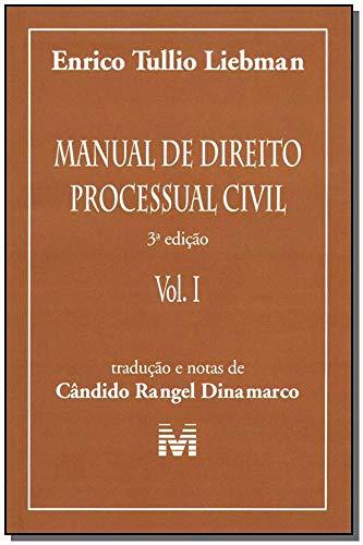 Manual de direito processual civil - 3 ed./2005: Volume 1