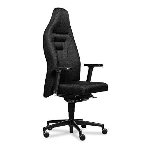 Gamechanger Gaming Stuhl Black - hochergonomische Synchronmechanik, Polyester-Stoffbezug, vielseitig einstellbar, Bürostuhl - Made in Germany