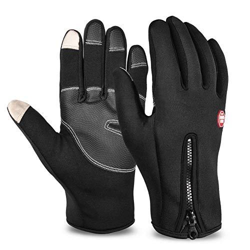 NTOW Herren Winter Touchscreen Handschuhe Fahrradhandschuhe Laufhandschuhe Sporthandschuhe Winddicht Wasserdichter Warme Vollfingerhandschuhe