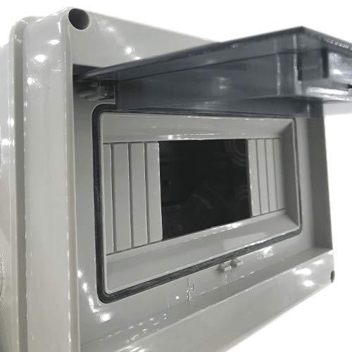 Caja distribucion electrica Superficie IP65 Blanco (8 modulos)