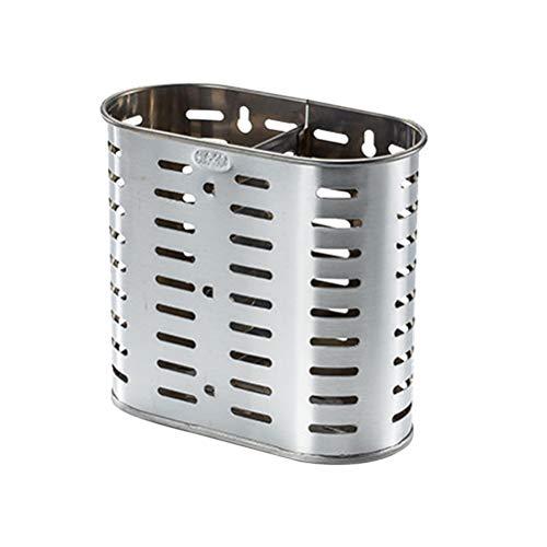 BESTONZON - Cesta para cubiertos de acero inoxidable, soporte para cubiertos, soporte para utensilios de cocina, almacenamiento para utensilios de cocina, palillos, tenedor, cuchara