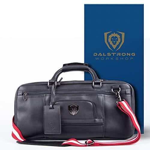 Dalstrong Premium Knife Bag - Extra Large - 4 Pockets - Black Leather