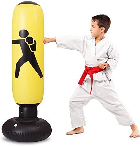 SioHopio Aufblasbarer Boxsack Kinder, Freistehender Ninja-Boxsack Bounce Back Zum Üben Von Karate, Taekwondo, Für Erwachsene Und Kinder Jugendspielzeug (63 Zoll)