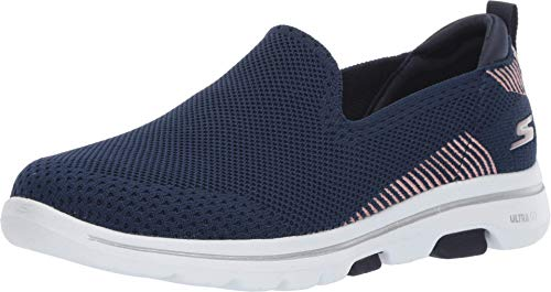 Skechers Damen GO Walk 5 - PRIZED Turnschuh, Navy, 38 EU