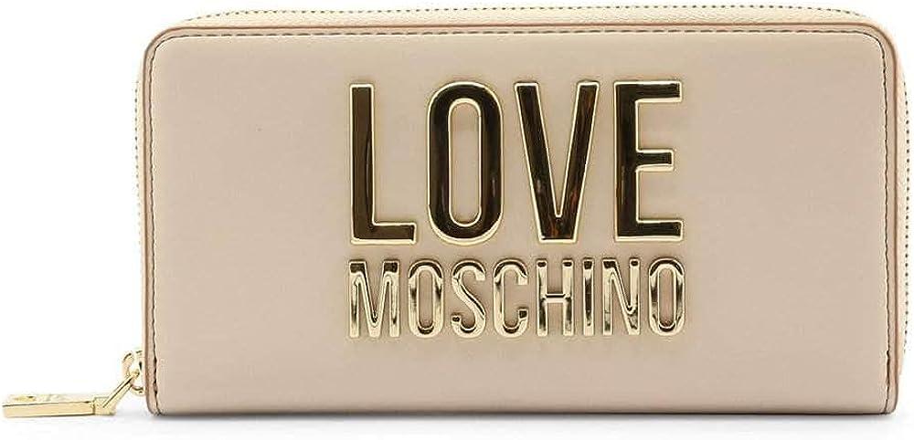 Love moschino porta carte di credito portafoglio da donna in ecopelle bianco