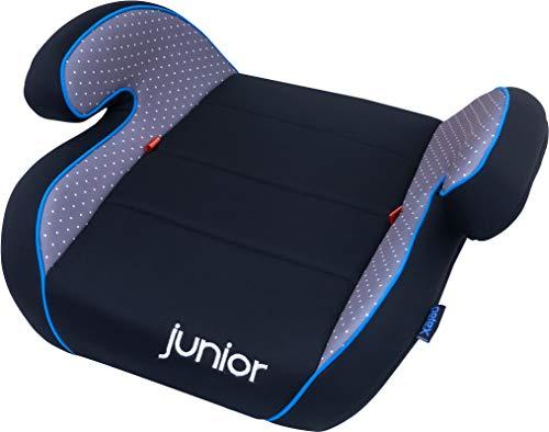 Petex Auto-Kindersitzerhöhung Max 101 ECE-Gruppe 2-3, Kinder von ca. 3,5-12 Jahre|15-36 kg, schwarz/grau
