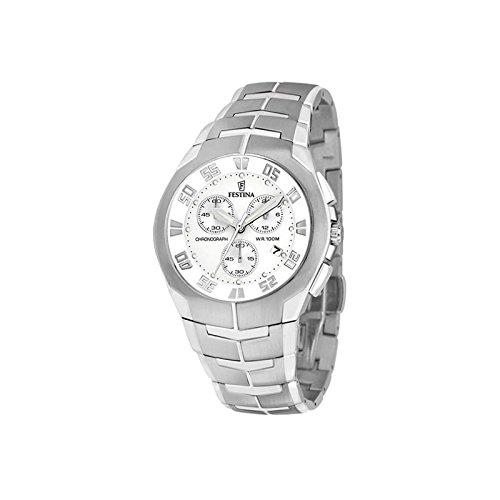 Festina Cronografo, F6713/1, acciaio, resistente all'acqua 100 m.