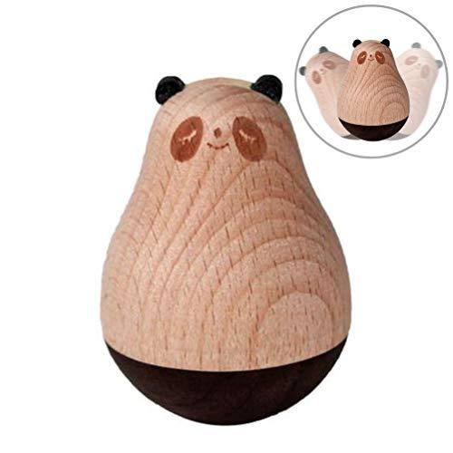 Auplew Trommel Spielzeug Hölzernes Pinguin Panda Elch Geschenk zur zum Geburtstag für Kindergeschenk