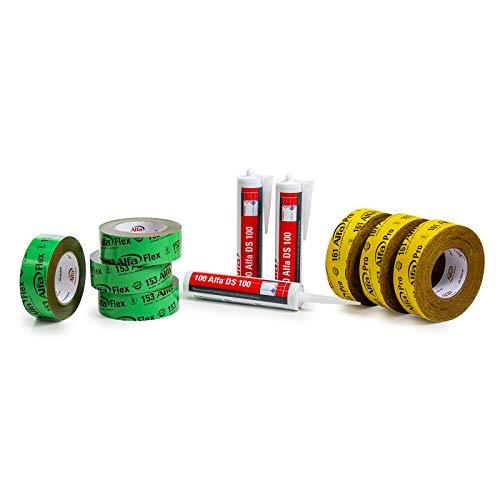 10-teiliges Dachausbau-Paket enthält Klebeband und Kleber für luftdichten Innen- und Dachausbau Klebeband Folienkleber für Dampfbremsbahnen Dampfsperren