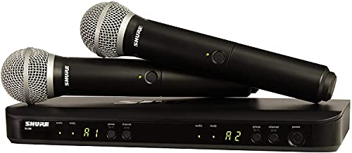 Shure BLX288/PG58-H9 Dual Channel Wireless Handheld...