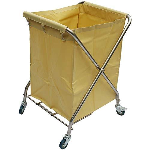 HWJL Fahrbare Lagerwagen mit Cart Wagenrad Falzmaschine mit Radbremse, Falzwagen Sortiermaschine, Wagen Sammlung von Hotels,Beige