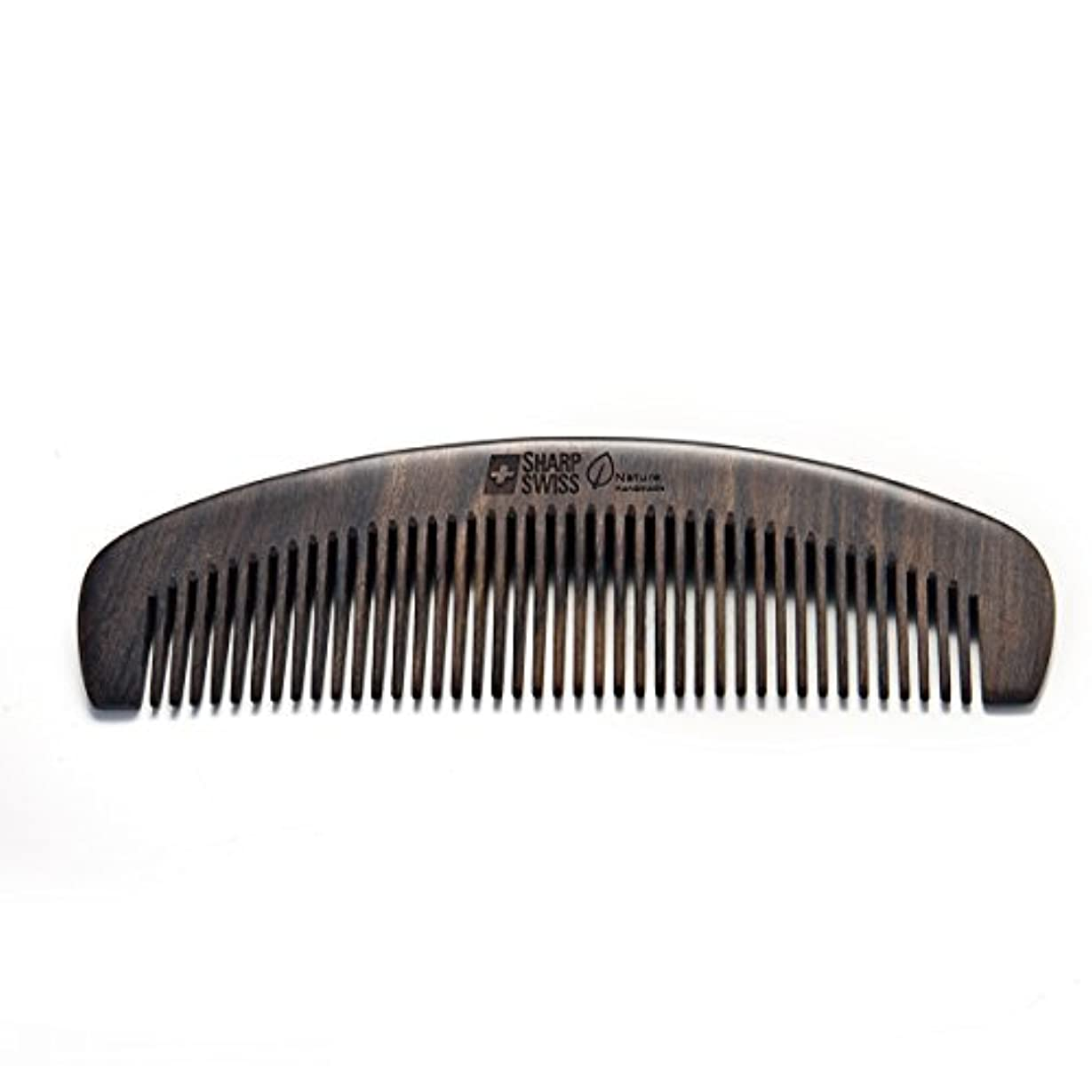 パノラマ学者食料品店SHARPSWISS No Static Black Nature Quality Wooden Hair Combs [並行輸入品]