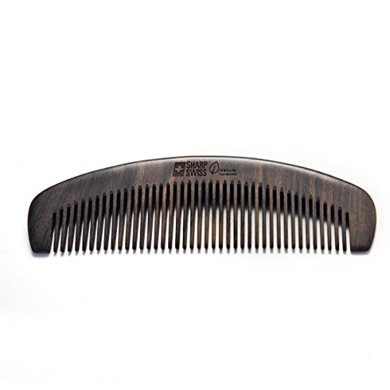 商品フェードアウト湿度SHARPSWISS No Static Black Nature Quality Wooden Hair Combs [並行輸入品]