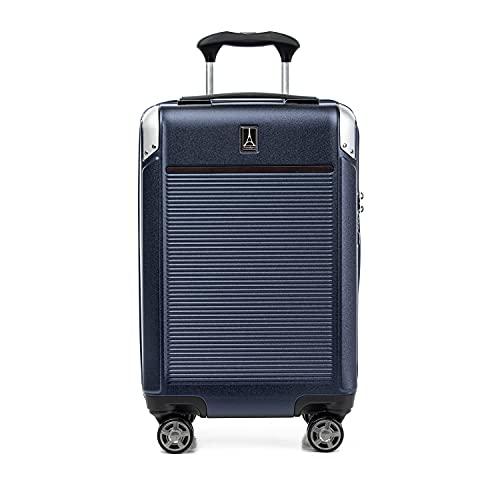 Travelpro Platinum Elite Expandable Hardside Spinner Luggage, True Navy, Carry-on