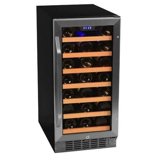 EdgeStar 30 Bottle Built-In Wine Cooler - Stainless Steel/Black