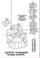 11x16かわいい女の子DIYスクラップブッキングフォトアルバム用透明クリアシリコンスタンプシール装飾クリアスタンプ