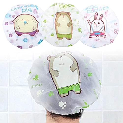 MZY1188 Bonnet de Protection de Bain, Capuchon Anti-poussière écologique et imperméable, Couvre-Cheveux de Douche de Bain coloré Adultes Capuchon de Protection de Bain étanche