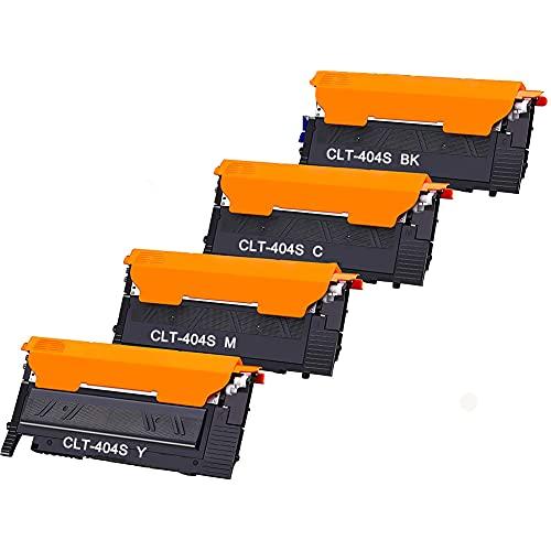 CLT-404S - Juego de 4 cartuchos de tóner compatibles para Samsung CLT-P404C CLT-K404S CLT-C404S CLT-M404S CLT-Y404S Xpress SL C480W C480FW C480FN C480 C430W C430 (negro, cian y amarillo)