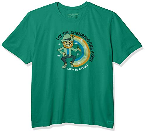 Life Is Good Shenanigans Crusher T-Shirt Unisexe pour Homme Motif Graphique Amusant L Vert Jungle