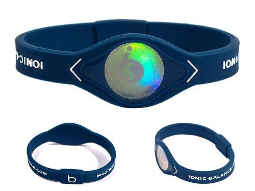 Banda de Equilibrio iónica Oficial – Tecnología MK2 de última generación (Grande – 20,5 cm, Azul/Blanco)