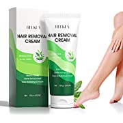Hair Removal Cream with Green Tea & Aloe Safe and Gentle for Sensitive Skin Painless Non-Irritating Hair Remover for Leg Underarms Bikini Depilatory Cream for Women and Men 4.23 OZ