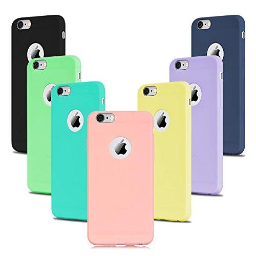 7x Morbido Apple iPhone 6 iPhone 6s Custodia , SpiritSun Apple 6S TPU Custodia per iPhone 6 iPhone 6s Moda Sottile Molle Antiurto Case Cover(7 Colore)