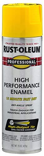 Rust-Oleum, Safety Yellow 7543838 Professional High Performance Enamel Spray Paint, 15 oz, 15 Fl Oz