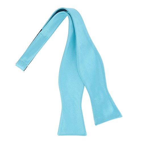 CravateSlim Noeud Papillon à Nouer Bleu turquoise Premium - Noeud Papillon Homme Mariage et Cérémonie - A nouer soi-même