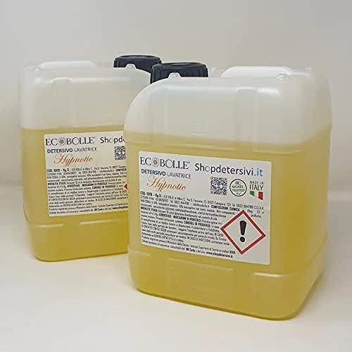 ECOBOLLE Detersivo per Lavatrice Hypnotic (2 taniche da 5lt), Concentrato & Super Profumato! 10kg