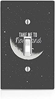 Trendy Accessories Decorative Take Me to Neverland Design Print Image Plastic Light Switch Wall Plate Cover. Screws Included.